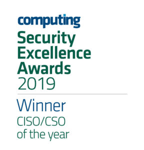 Computing awards iboss CEO Paul Martini as the CISO/CSO of the Year at the 2019 Computing Security Awards